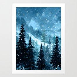 Winter Night Kunstdrucke