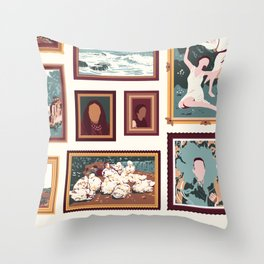 "Sanctuary XXIX - ""Gallery Wall"" Throw Pillow"