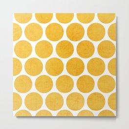 yellow polka dots Metal Print
