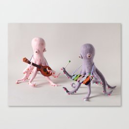 Octopus Band Canvas Print