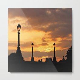 A sunset in Paris Metal Print