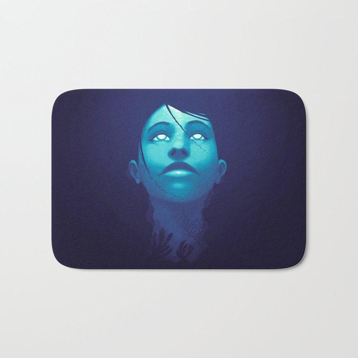 Luminescent Sapphire Bath Mat