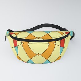 Abstract Retro Colored Symmetric Shape Fanny Pack