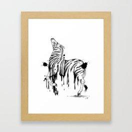 Dripping Zebra Framed Art Print