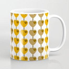 Summer Gold & Coffee Heart Strings Coffee Mug