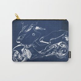 21 C600 Sport BLUE blueprint motorcycle Carry-All Pouch