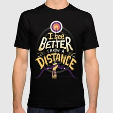Better from a distance Mens Fitted Tee Black LARGE