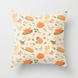 Happy Thanksgiving! Throw Pillow