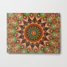 Colorful Jellybean Mandala Metal Print