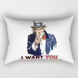 Uncle Sam I Want You Rectangular Pillow