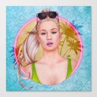 iggy azalea Canvas Prints featuring Iggy by Will Costa