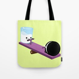 Milk and Cookie - Seesaw Tote Bag