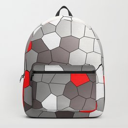 Mosaik grey white red Graphic Backpack