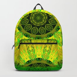 Lemon Lime Mandala Backpack
