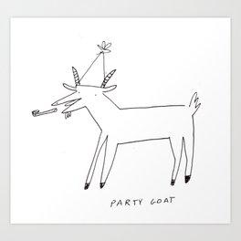 Party Goat Art Print
