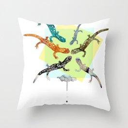 FORMOSA SERIES【Salamanders】 Throw Pillow