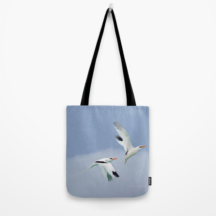 White-tailed Tropicbird Pair, Mating Flight Tote Bag