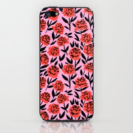 Red Peonies iPhone Skin