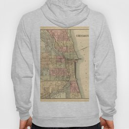 Vintage Map Of Chicago Hoody