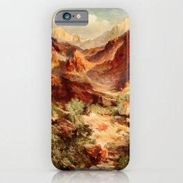 Moran, Thomas (1837-1926)  - Three wonderlands of the American West 1912 - Bright Angel Trail, iPhone Case