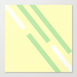 Green yellow white Canvas Print