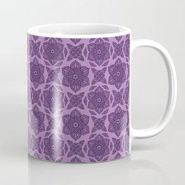 Floral Lotus Mandala Purple Coffee Mug