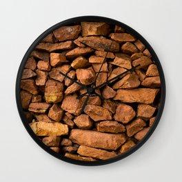 The Rock Wall  Wall Clock