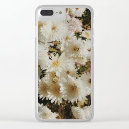 Beautiful chrysanthemums print Clear iPhone Case