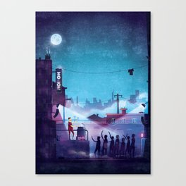 Midnight Street Klubnacht Canvas Print