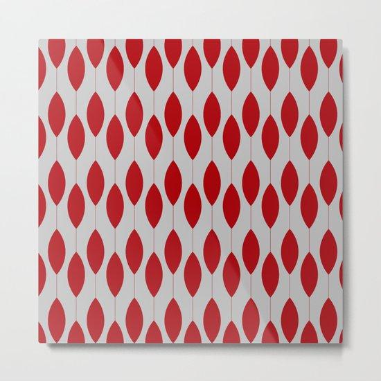 Rose petal drops modern pattern Metal Print