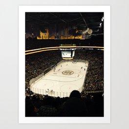 Bruins game Art Print