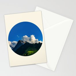 Green Mountain Valley Clouds & Blue Sky Stationery Cards