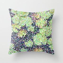 Pointilized Lily Pads Throw Pillow