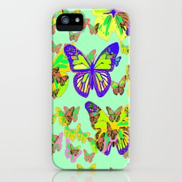Monarch Butterflies Spring Melodies Abstract iPhone Case