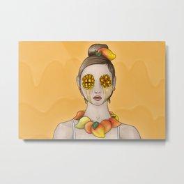 Mango Summer Metal Print
