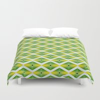 emerald Duvet Covers featuring Emerald by AZRI AHMAD