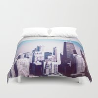 chicago Duvet Covers featuring Chicago by Jon Damaschke