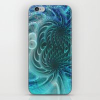 fractal iPhone & iPod Skins featuring Fractal by nicky2342