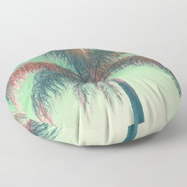 Red palm tree Floor Pillow
