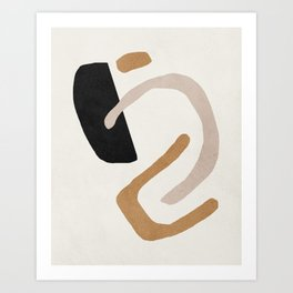 Abstract shapes art, Mid century modern art Art Print