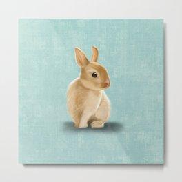Portrait of a little bunny Metal Print