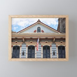 New Orleans American Creole Cottage Framed Mini Art Print