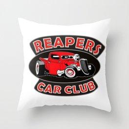 REAPERS CAR CLUB INTERNATIONAL Throw Pillow