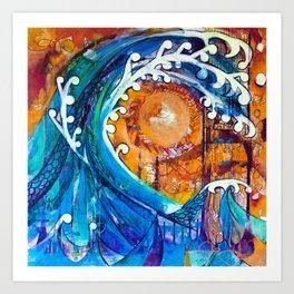 Aoukusai Wave Art Print