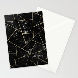 Black Marble Gold Geometric Glam #1 #geo #decor #art #society6 Stationery Cards