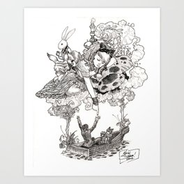 Dreaming Alice Art Print