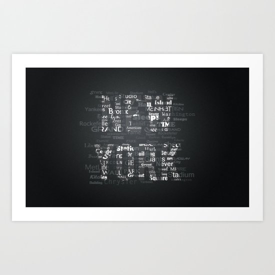 New York Words Art Print