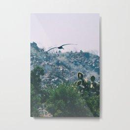 Seagull & Cacti Metal Print