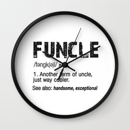 Funcle Fun Uncle Definition For Military Veterans Wall Clock