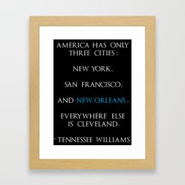 Tennessee Williams Framed Art Print